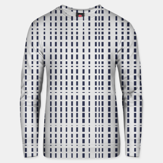 Miniatur Dark Blue Dotted Lines on light grey Unisex sweater, Live Heroes