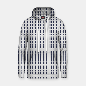 Thumbnail image of Dark Blue Dotted Lines on light grey Hoodie, Live Heroes