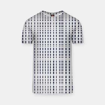 Miniatur Dark Blue Dotted Lines on light grey T-shirt, Live Heroes
