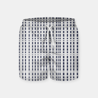 Miniatur Dark Blue Dotted Lines on light grey Swim Shorts, Live Heroes