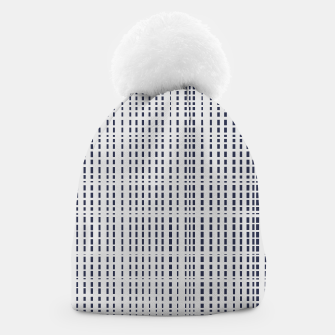 Imagen en miniatura de Dark Blue Dotted Lines on light grey Beanie, Live Heroes