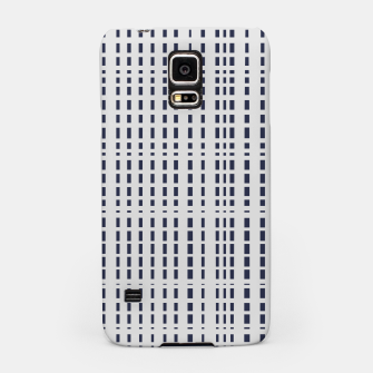 Miniatur Dark Blue Dotted Lines on light grey Samsung Case, Live Heroes