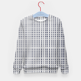 Miniatur Dark Blue Dotted Lines on light grey Kid's sweater, Live Heroes
