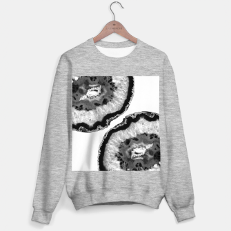 Miniaturka Gray Black White Agate Finesse #1 #gem #decor #art Sweatshirt regulär, Live Heroes