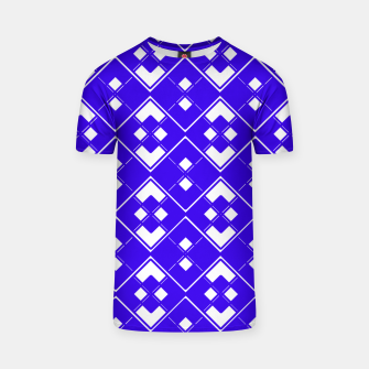 Miniatur Abstract geometric pattern - blue and white. T-shirt, Live Heroes