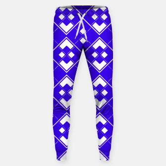 Miniatur Abstract geometric pattern - blue and white. Sweatpants, Live Heroes