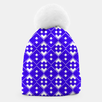 Imagen en miniatura de Abstract geometric pattern - blue and white. Beanie, Live Heroes