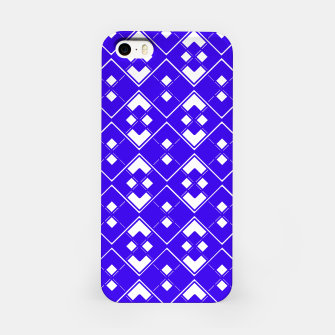 Imagen en miniatura de Abstract geometric pattern - blue and white. iPhone Case, Live Heroes