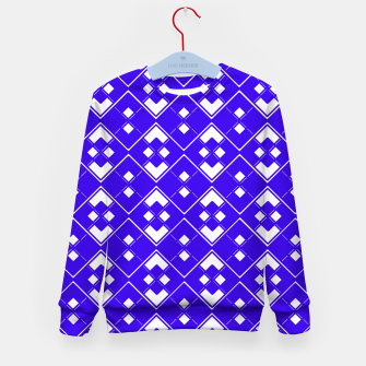 Imagen en miniatura de Abstract geometric pattern - blue and white. Kid's sweater, Live Heroes