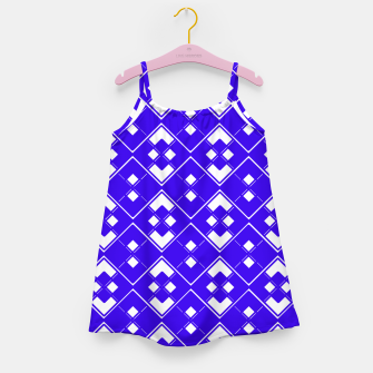 Imagen en miniatura de Abstract geometric pattern - blue and white. Girl's dress, Live Heroes