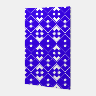 Imagen en miniatura de Abstract geometric pattern - blue and white. Canvas, Live Heroes