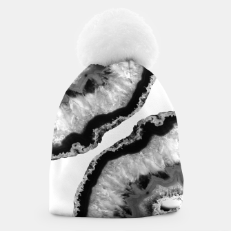 Imagen en miniatura de Gray Black White Agate Finesse #1 #gem #decor #art Mütze, Live Heroes