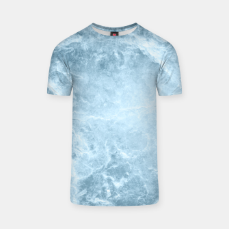 Miniatur Enigmatic Light Blue Marble #1 #decor #art  T-Shirt, Live Heroes