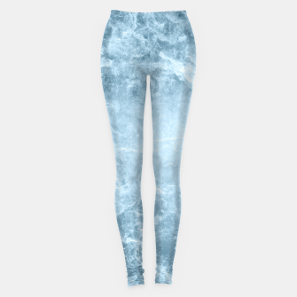 Thumbnail image of Enigmatic Light Blue Marble #1 #decor #art  Leggings, Live Heroes