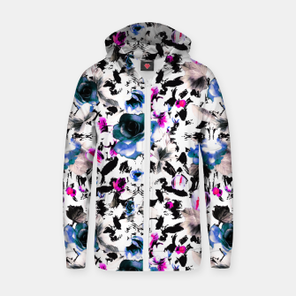 Thumbnail image of Flowery abstract strokes 2 Sudadera con capucha y cremallera , Live Heroes