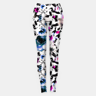 Flowery abstract strokes 2 Leggings thumbnail image