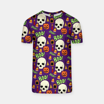 Thumbnail image of Halloween pattern T-shirt, Live Heroes