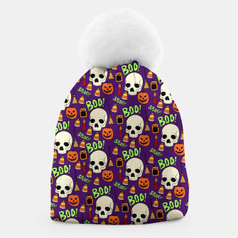 Thumbnail image of Halloween pattern Beanie, Live Heroes