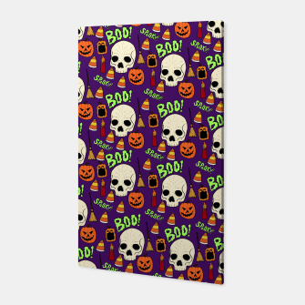 Miniatur Halloween pattern Canvas, Live Heroes