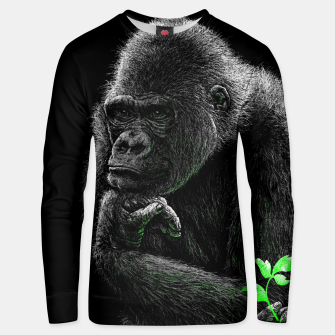 Thumbnail image of GORILLA (vegan animals) Unisex sweatshirt, Live Heroes