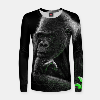 Thumbnail image of GORILLA (vegan animals) Frauen sweatshirt, Live Heroes
