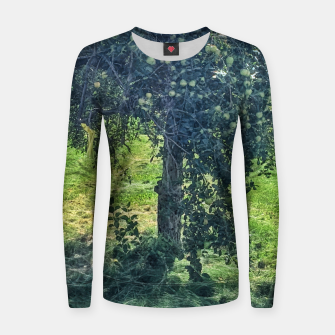 Thumbnail image of Green Apple Tree Women sweater, Live Heroes