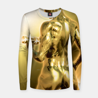Miniaturka Female Golden Bodybuilder Frauen sweatshirt, Live Heroes