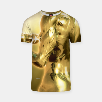 Miniaturka Female Golden Bodybuilder T-Shirt, Live Heroes