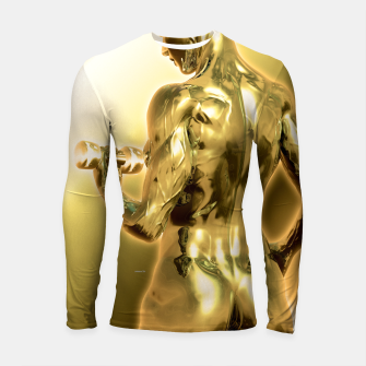 Thumbnail image of Female Golden Bodybuilder Longsleeve rashguard, Live Heroes