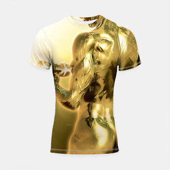 Thumbnail image of Female Golden Bodybuilder Shortsleeve rashguard, Live Heroes