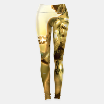 Miniaturka Female Golden Bodybuilder Leggings, Live Heroes