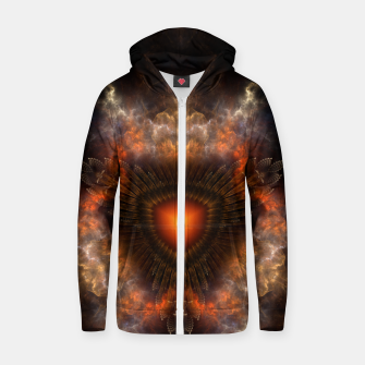 Thumbnail image of Sun Star Cube Zip up hoodie, Live Heroes
