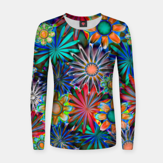 Thumbnail image of Tropical Daisies Women sweater, Live Heroes