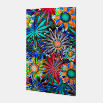 Miniatur Tropical Daisies Canvas, Live Heroes