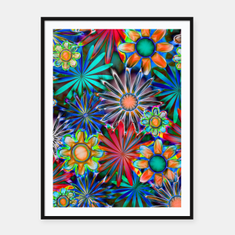Thumbnail image of Tropical Daisies Framed poster, Live Heroes