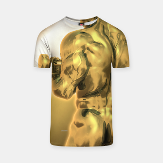 Miniatur Male Golden Bodybuilder T-Shirt, Live Heroes