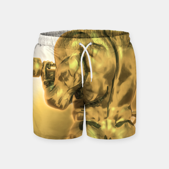 Thumbnail image of Male Golden Bodybuilder Badeshorts, Live Heroes