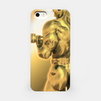 Imagen en miniatura de Male Golden Bodybuilder iPhone-Hülle, Live Heroes