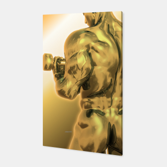 Miniatur Male Golden Bodybuilder Canvas, Live Heroes