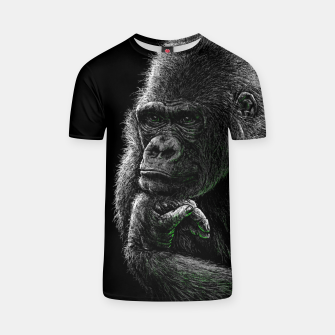Thumbnail image of GORILLA (vegan animals) T-Shirt, Live Heroes