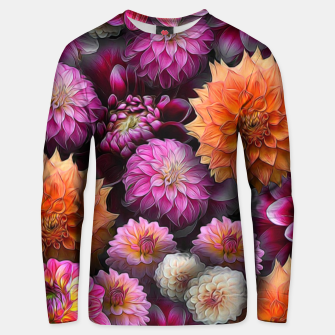 Miniatur Pink and Orange Dahlias Unisex sweater, Live Heroes