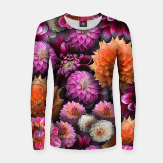 Thumbnail image of Pink and Orange Dahlias Women sweater, Live Heroes