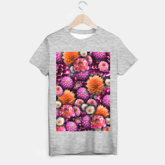 Thumbnail image of Pink and Orange Dahlias T-shirt regular, Live Heroes