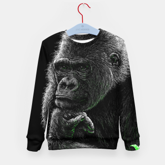 Thumbnail image of GORILLA (vegan animals) Kindersweatshirt, Live Heroes