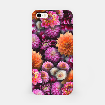 Imagen en miniatura de Pink and Orange Dahlias iPhone Case, Live Heroes
