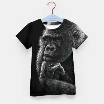 Thumbnail image of GORILLA (vegan animals) T-Shirt für kinder, Live Heroes