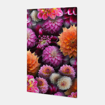 Miniatur Pink and Orange Dahlias Canvas, Live Heroes
