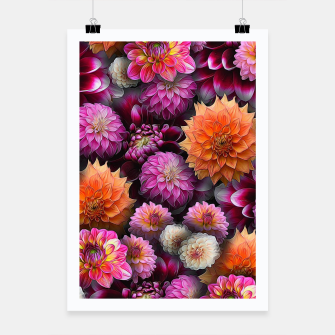 Miniaturka Pink and Orange Dahlias Poster, Live Heroes