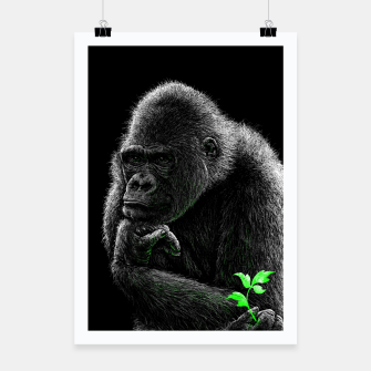 Thumbnail image of GORILLA (vegan animals) Plakat, Live Heroes