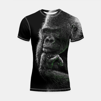 Thumbnail image of GORILLA (vegan animals) Shortsleeve rashguard, Live Heroes